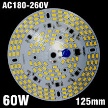5pcs 60W 220v Directly Driverless Integrated Driver SMD5730 LED Aluminum Plate For High Bay Light Panel(China)