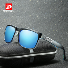 DUBERY Polarized Aviation Sunglasses Men's Vintage Male Colorful Sun Glasses For Men Fashion Brand Luxury Mirror Shades Oculos(China)