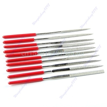 10 pcs 140mm Needle Files Jeweler Diamond Carving Craft Tool Metal Glass Stone #L057# new hot
