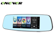 "7"" 4G Car Rear View Mirror DVR Camera Android 5.1 GPS Bluetooth Wifi Camcorder Dual Lens Automobile Video Recorder Dash Cam(China)"