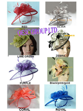 New color lime green,sinamay hat fascinator hair accessories for wedding.8 colors,black,gold,hot pink,purple,silver,royal
