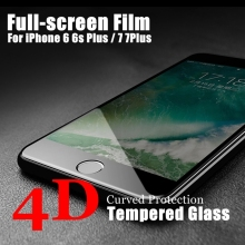 4D Screen Protector Film for iPhone 6 6s Plus New 3D Cold Carving Full Cover 9H Hight Quality Tempered Glass for iPhone 7 7 Plus
