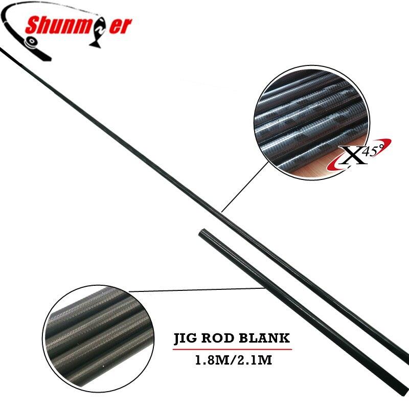 SHUNMIER 2set 1.8M 2.1M 2Sections 24T Jig Carbon Fishing Rod Blank DIY Boat Rod Pole Repair Olta Carbon Fiber Rod Pesca <br>