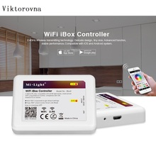 Milight Led WiFi box RGB controller DC12V mini wifi wireless LED Controller APP iOS Android Remote Controller for milight bulb(China)