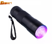 High Quality Portable Aluminum 9Led UV Flashlight Violet Light Flashlights Torch Light Lamp Tactical Flashlight Ultraviolet Lamp