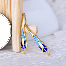 YYW Hot Sale Handmade Chinese Wind Ethnic Punk Women 925 Sterling Silver Cloisonne Earring High Quality Teardrop Dangle Earrings(China)