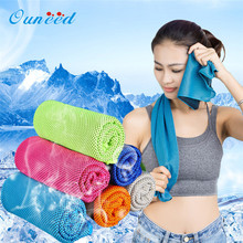 OUNEED Fitness Dry Cooling Sports Towel For Gym Best Workout face Iced Sweat Towels Quick-Dry U70602(China)