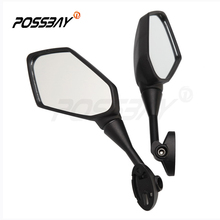 POSSBAY 1 Pair Black Motorcycle Accessories Mirrors Scooter Side Rear View Mirror Cafe Racer for Japan Motorbike Z1000 Prismatic