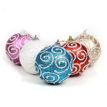 High quality hand painted Christmas balls 8cm high-grade Christmas decorations 8g/pcs