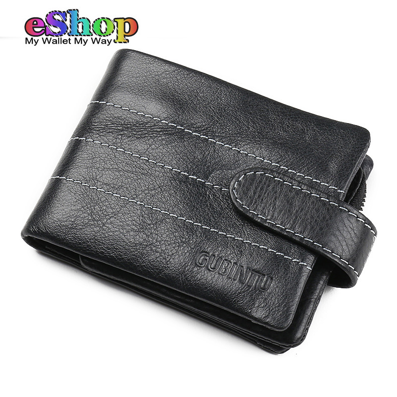 GUBINTU Genuine Leather Men Wallets Cow Leather Man Wallet With Removable Coin Pocket Famous Brand Wallet Horizontal Vertical<br>