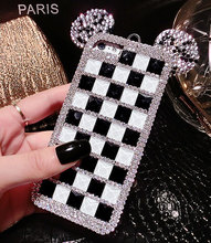 Fashion Fashion Shape with Square Diamond Soft Back Case Cover Shell Protection for Apple iPhone7 7Plus 6 6s 6plus phone shell