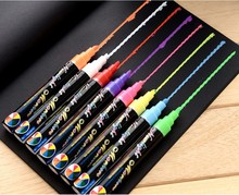 8 Colors Liquid Chalk Marker Pens Erasable Multi Colored big Highlighters for LED Writing Board Glass Window Art(China)