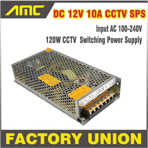 Universal 120w Adapter Switching CCTV Power Supply AC/DC 12V 10A Universal Regulated Adapter For DVR CCTV Camera LED Strip Light<br><br>Aliexpress