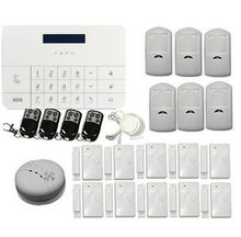 Burglar Intruder Alarm System Auto Dialer Wireless LCD GSM SMS RFID Touch Keyboard Home House Security PIR Motion Detector Door