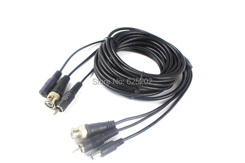 BNC RCA DC Connectors CCTV Camera Extension Cable 10M<br><br>Aliexpress