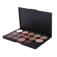 2017 New Fashion 15 Earth Color Matte Shimmer Pigment Eyeshadow Palette Cosmetic Makeup Eye Shadow for Women 3 Color Optional(China)