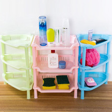 3 Tier Plastic Corner Organizer Cabinet  Bathroom Caddy Shelf Kitchen Storage Rack Holder Triangle Square Storage Holder