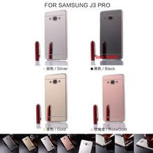Best Cheap Soft TPU Electroplating Mirror Phone Women Accesories Case Etui Caso For Samsung Sumsang Galaxy Galaxi J3 PRO 2017