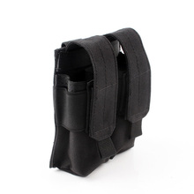 Tactical MOLLE Pouches Single Pistol Magazine Pouch Modular Magazine Mag Pouch Black