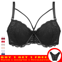 Buy Thin Women Plus Size Bra B C Super Beautiful Front Bralette Lace Bra Female Lingerie Deep V Sexy Big Size Bra Women Brassiere