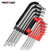 9Pcs Universal Hex Key Wrench Set Long Arm Cr-V Torx Key Star Wrench Hand Tools Screwdriver T10 T15 T20 T25 T27 T30 T40 T45 T50(China)
