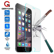 GerTong Tempered Glass For iPhone 4 4S 5 5S 5C SE 6 6S 6Plus 6sPlus 7 7Plus For iPod 5 6 Screen Protector Phone Cases Cover Film