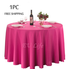 Free Shipping 1PC Wholesale Polyester White Tablecloth from Wedding Banquet Hotel Decor Round Table Cloth Rectagular Table Linen