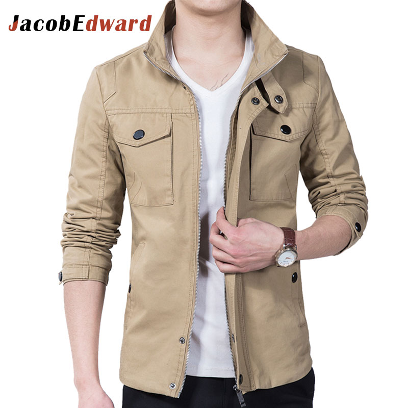 Men's Casual Jackets Polyester Cotton Long Sleeve Mens Jackets And Coats Slim Fit Jaqueta Masculina Plus Size M-5XL Men's Coats