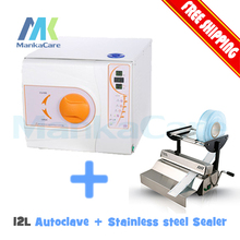 Sterilized Bags Sterile Bag Sealer Dental / Clinic / Hospital Package Sealing Equipment and 12L Autoclave Class B Big Discount(China)