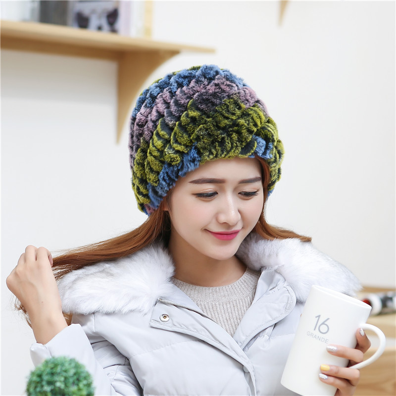 New Winter Hats for Girls Skull Cap Woolen Knitting Rabbit Faux Fur Women Hats Hat Sale Promotion Fashion HatsОдежда и ак�е��уары<br><br><br>Aliexpress