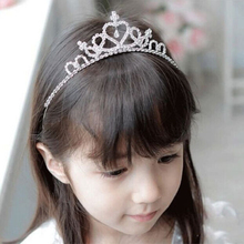 Rhinestone Crystal Tiara Hair Band Kid Girl Bridal Princess Prom Crown Kid Girl Bridal Princess Prom Crown Headband