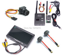 FPV AV Audio Video 5.8Ghz 600mw 48CH TS832 Transmitter RC832 plus Receiver 7 inch LCD TFT 1024 x 600 Monitor 1000TVL Camera(China)