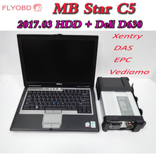 High Quality MB STAR XENTRY C5 SD COMPACT 5 With Newest 05/2017V Software 320G HDD install in for dell d630 laptop Ready to use