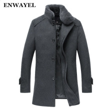 BETTONAL Top Parka men Jacket Coat Overcoats Male Wool Blends Outerwear Rabbit Long