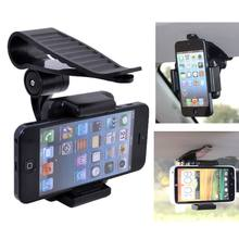 Black Quality Car Sun Visor Mount Holder Stand Bracket for iPhone Samsung Mobile Phone GPS Holder