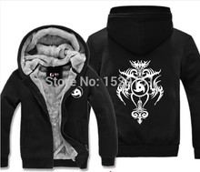 New Winter Style Plush Warm Wool Liner Jacket Boutique Woolen Velvet Men Hoodies ROK Naruto Uchiha Itachi Sharingan Coat