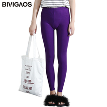 Buy BIVIGAOS New 2017 Women Multicolor Glossy Leggings Pants Summer Thin Candy Color Ankle Pants Workout Legging Sexy Leggings Women for $6.55 in AliExpress store
