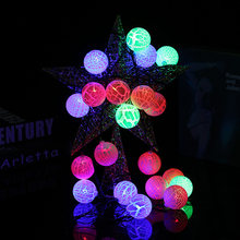 YINGTOUMAN 3pcs lot Crack Small Ball Plug Warm White Colours Lamp Christmas  String Light Fairy Party Wedding Decoration 6m 20LED 819b5a787f4b