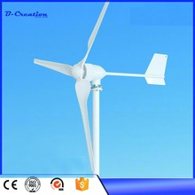 1000w wind turbine Max power 1200w 3 blades 48v wind mill low start up wind generator + 1000w wind solar hybrid controller(China)