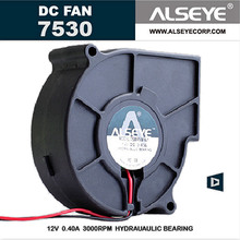 ALSEYE 75mm Blower Fan 12v 0.3A 3000RPM DC Cooling Fan Cooler, Electrical Appliances Radiator Fan 75x75x30mm