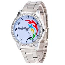 women watch fashion sliver design simplicity Fresh and clean style stainless steel simple face fashion quartz watches relojes