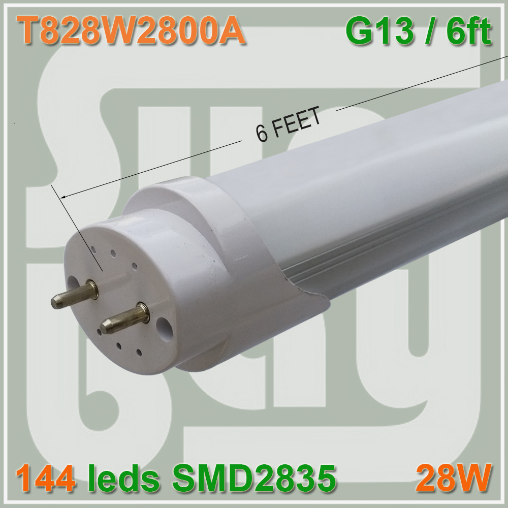 50pcs/lot free shipping SMD2835 T8 led tube 1800mm 1.8M 180cm 6ft 28W G13 constant current compatible with inductive ballast<br><br>Aliexpress