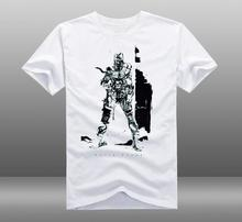 MGS Metal Gear Solid V 5 The Phantom Pain Solid Snake Short Sleeve White T-shirt XS-2XL(China)