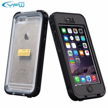 Luxury Mobile Case Dirt Shock Waterproof cell phone case For iPhone 6 6S Plus cover High Quality with IP68 Authenticate(China)