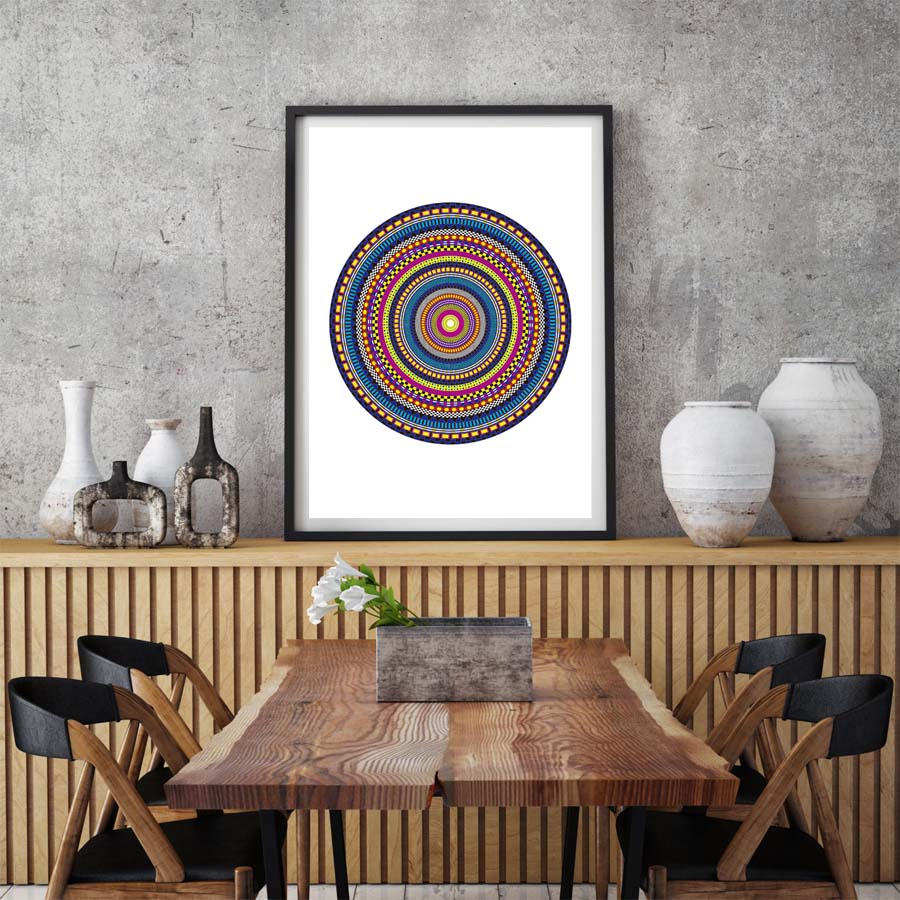 Tibetan Thangka Mandala Wall Art
