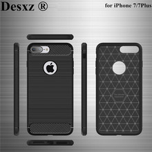 Desxz Phone Case for 7 7Plus Plus Carbon Fiber Soft TPU Drawing Cover for iP 7 lite Cases Ultra thin cases for Protector Shell(China)