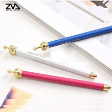 2 pcs/lot kawaii Noble Crown shape Ballpoint Pen For Writing School Supplies Office Accessories Stationary Kids Student Gift(China)