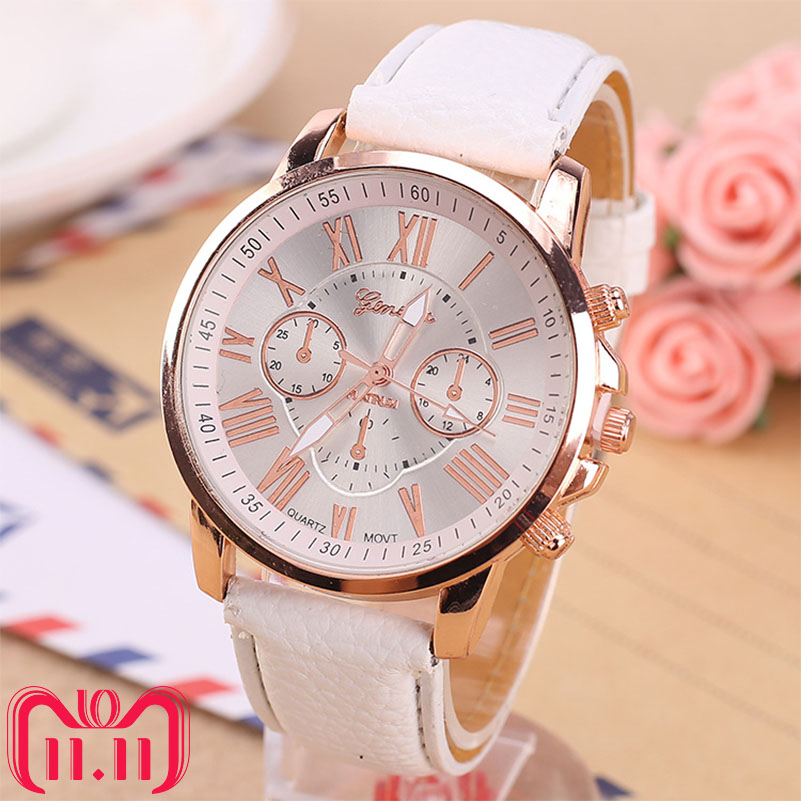 Luxury Brand Leather Quartz Watch Women Ladies Men Fashion Bracelet Wrist Watch Wristwatches Clock relogio feminino masculino (China)