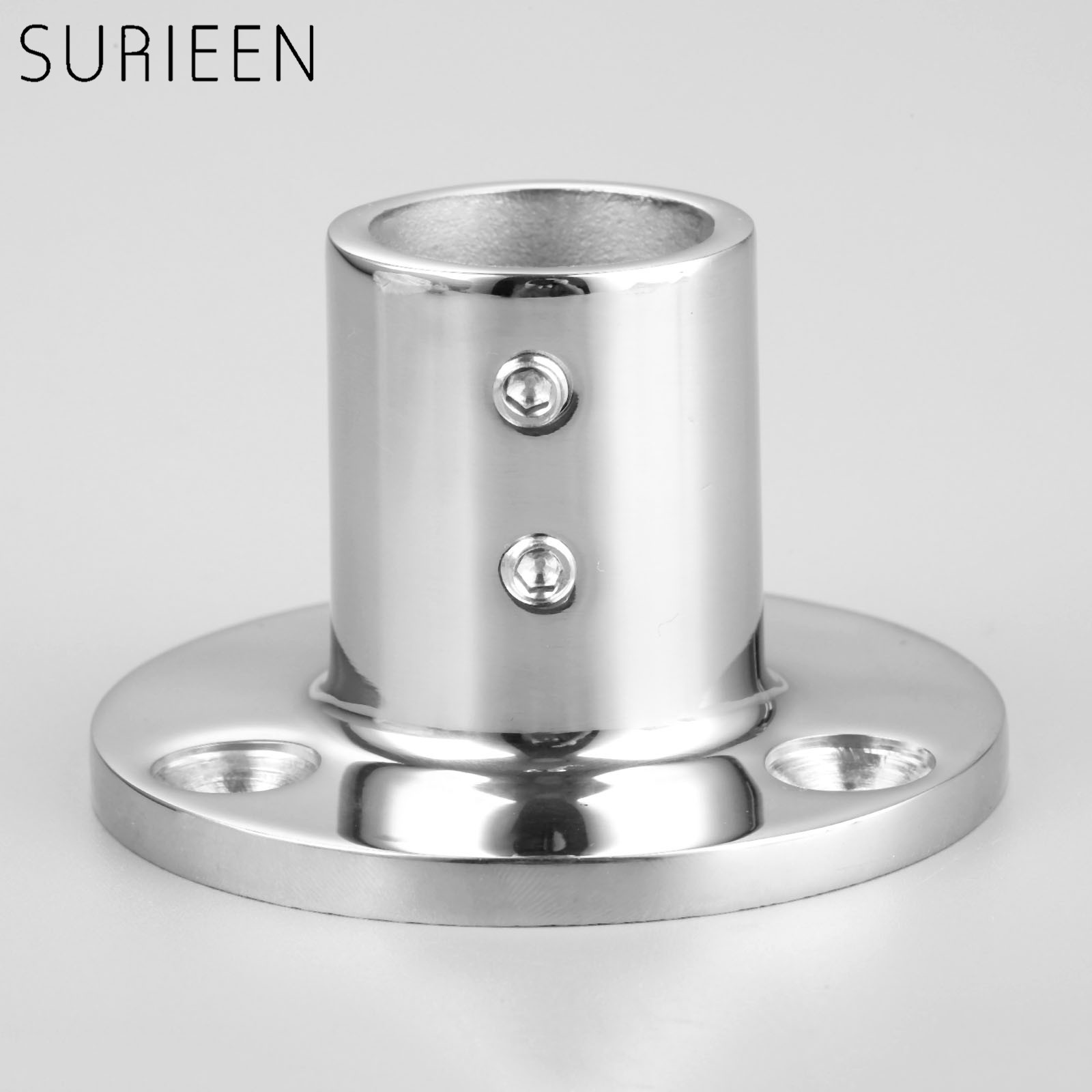 "1 Pc Stainless Steel 90 Degree Marine Boat Hand Rail Fitting Round Stanchion Base For Pipe 1"" 25.4mm Dia Boat Accessories Marine"