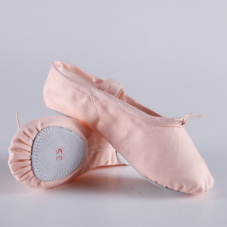 Canvas Flat Slippers Pink Red Black salsa Ballet Shoes For Girls Yoga Gym Flat Slippers  Ballerina Dancing Shoe for baby kids(China)